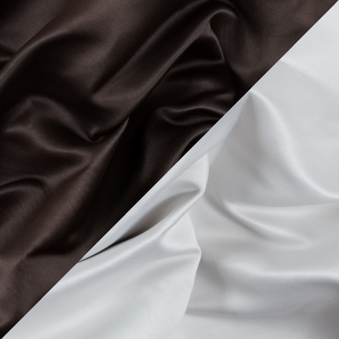 brown and white two tone double duchesse satin 312580 11
