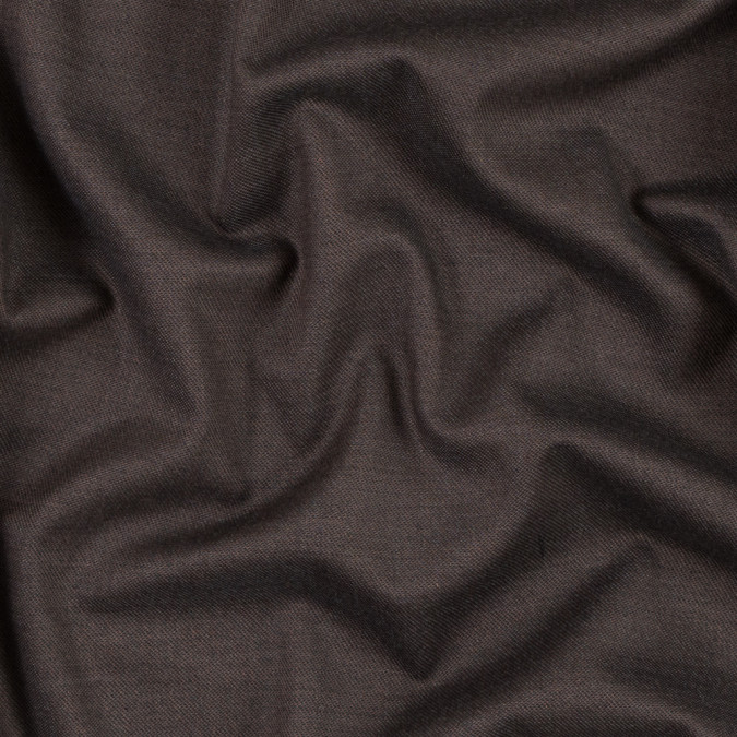 brown brushed stretch wool twill 301644 11