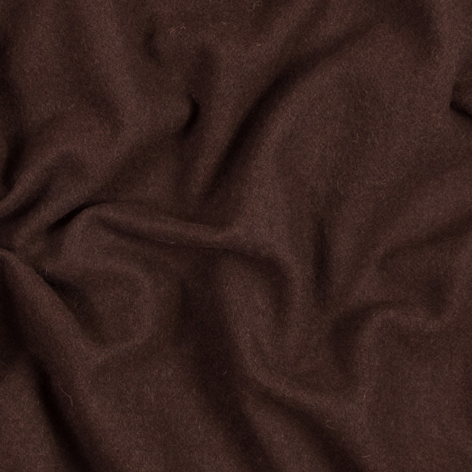 brown brushed twill wool coating 317229 11