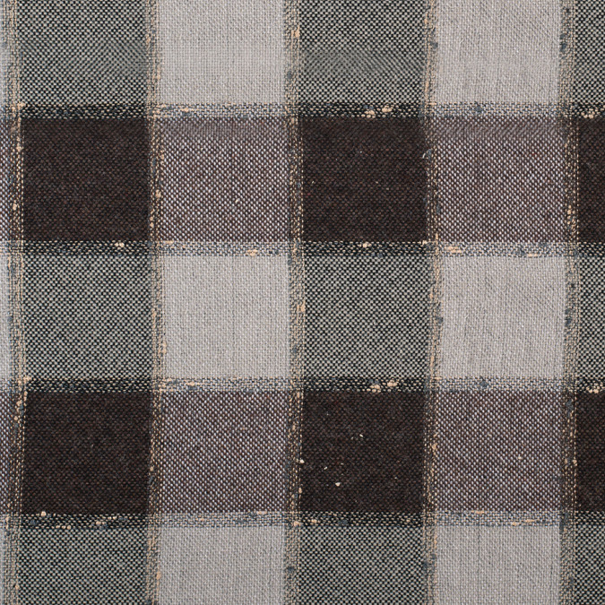 brown checkered wool blended tweed 308173 11