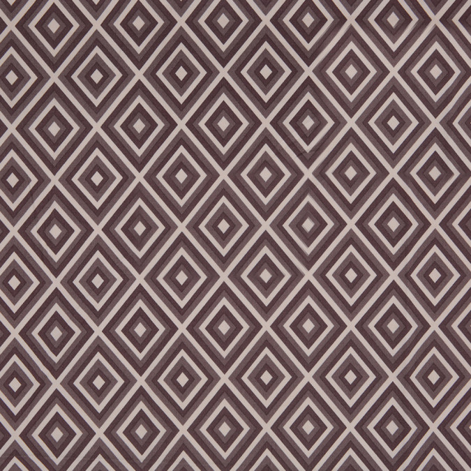 brown geometric stretch cotton sateen 307142 11