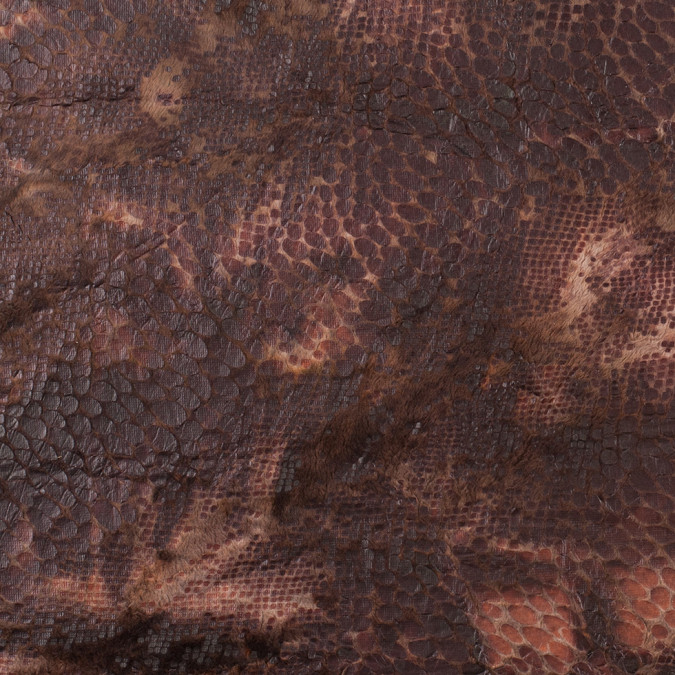brown knitted faux fur with reptillain laminate 307770 11