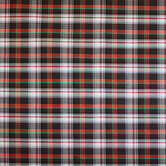 brown orange white plaid cotton flannel 308636 11