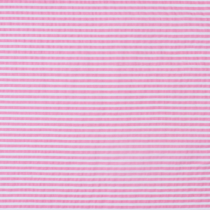 bubble gum pink striped cotton seersucker 307950 11