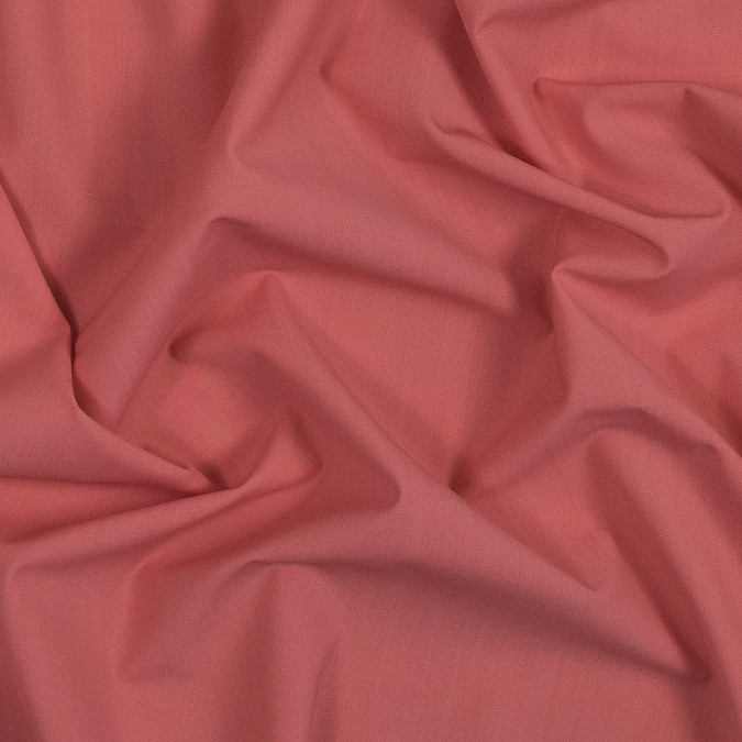 burnt coral stretch cotton woven 319073 11