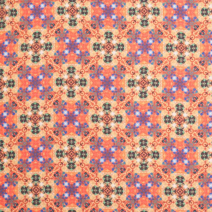 burnt orange kaleidoscope digitally printed polyester charmeuse 307416 11