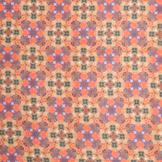 burnt orange kaleidoscope digitally printed polyester chiffon 307393 11
