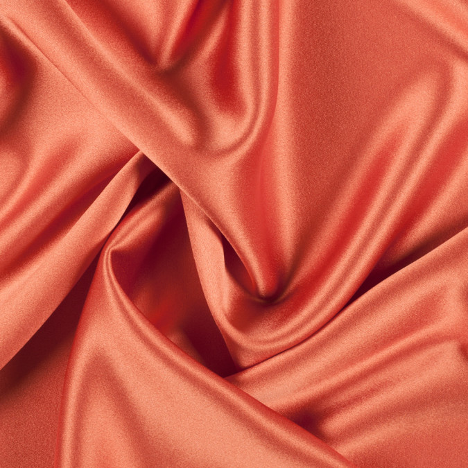 burnt orange silk crepe back satin pv8000 166 11