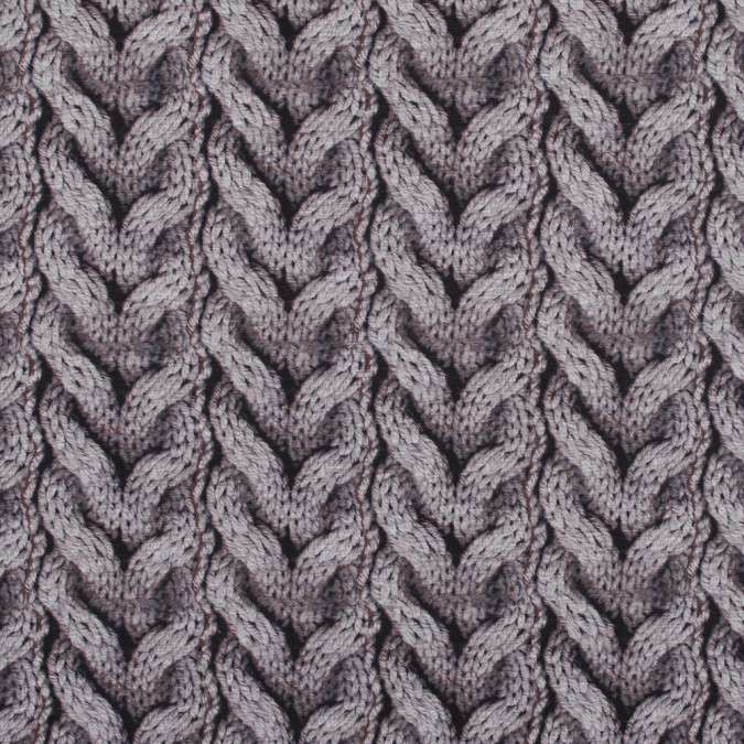 cable knit printed jersey fused to a solid gray felt 317445 11