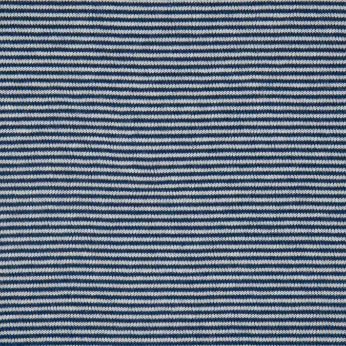 cadet navy and white striped stretch cotton jersey 311723 11