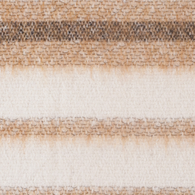 caramel and cream striped blended wool woven 308097 11
