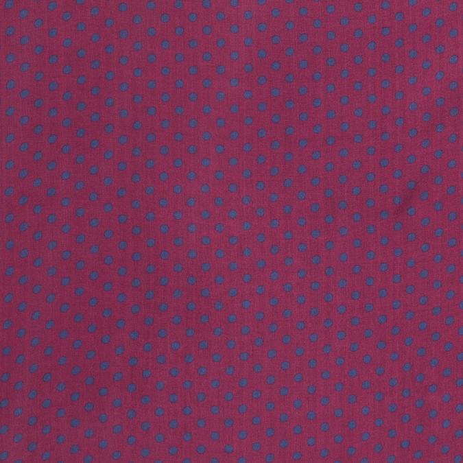 carmine and blue polka dotted silk chiffon 315914 11