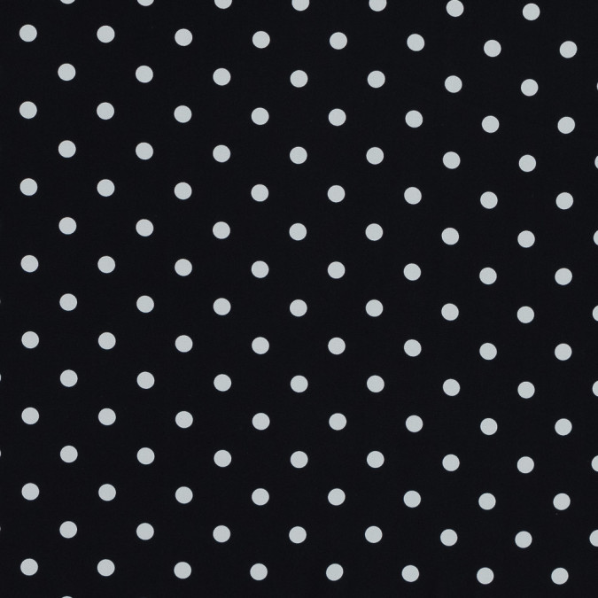 carolina herrera black and white polka dotted stretch silk crepe de chine 319517 11