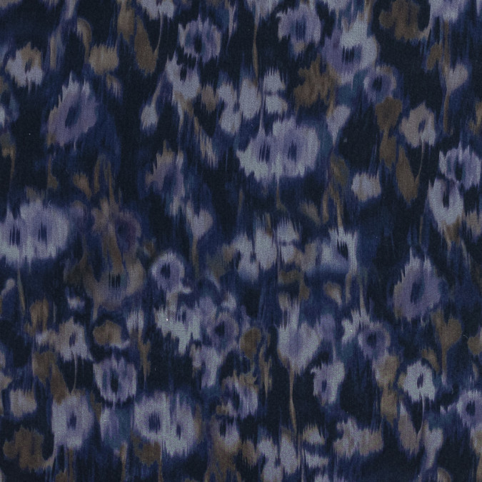 carolina herrera purple abstract printed silk organza 319516 11