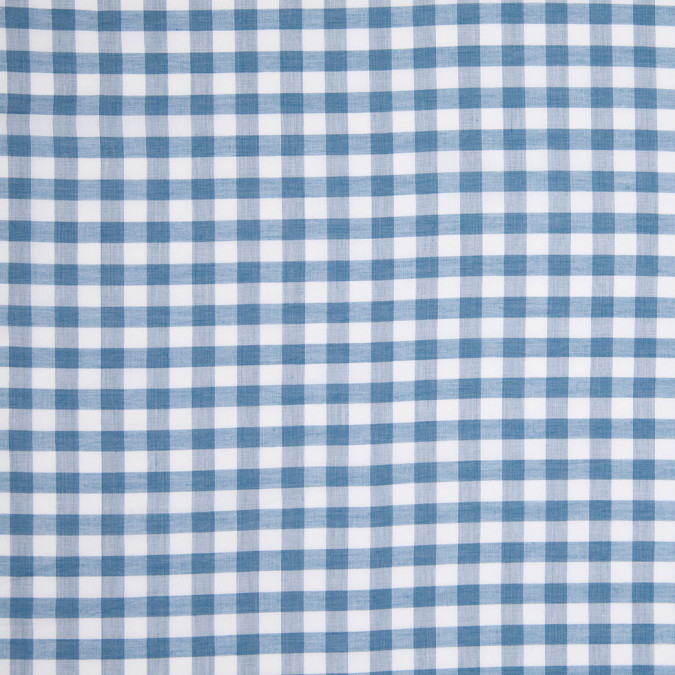 celestial blue and white checked lightweight cotton shirting 303908 11