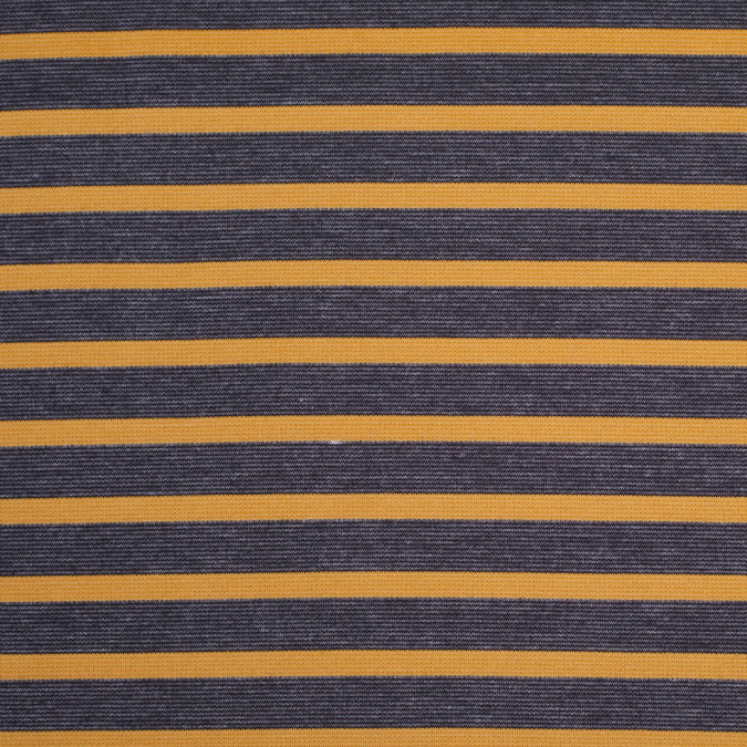 charcoal and mustard striped polyester blended ponte de roma 107997 11