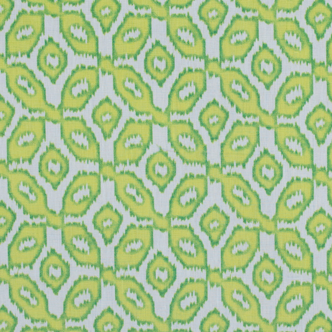 chartreuse ikat printed linen woven 317593 11