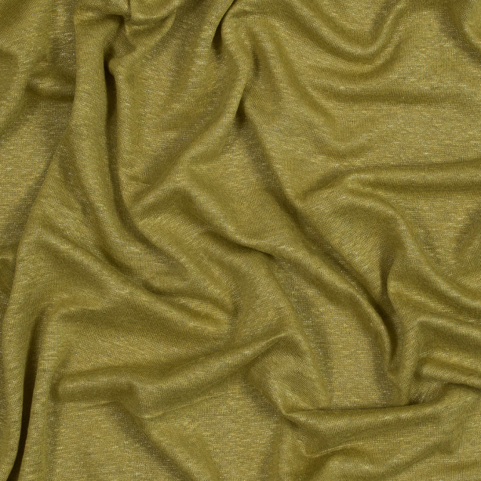 chartreuse linen knit with a silver metallic laminate 316305 11