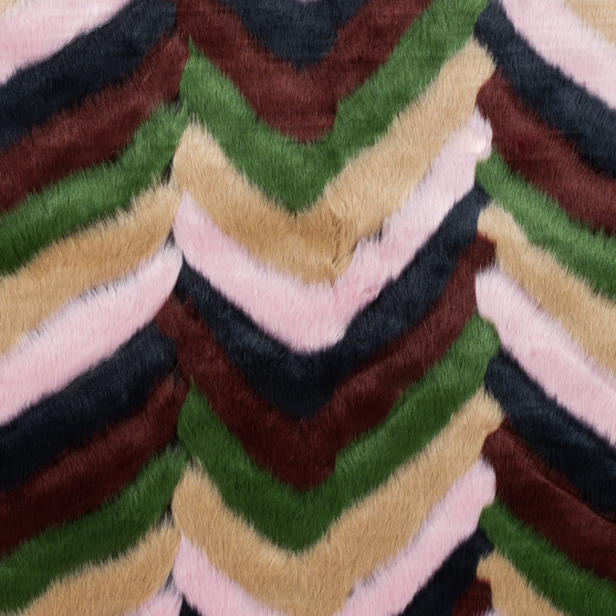 chevron multicolored faux fur 116551 11