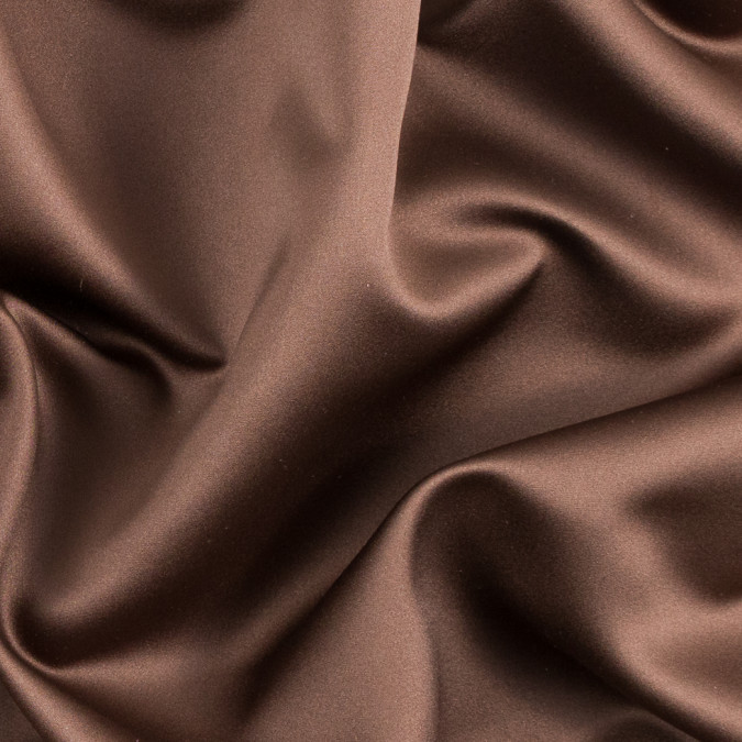 chocolate brown polyester satin 310572 11