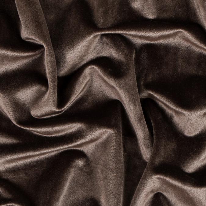 chocolate brown polyester velvet 313328 11