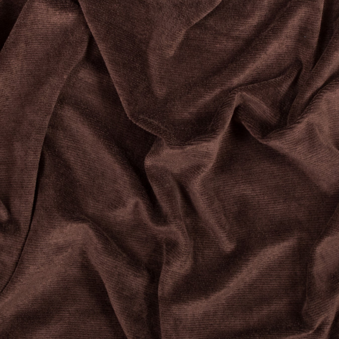 chocolate brown stretch knit corduroy 317287 11