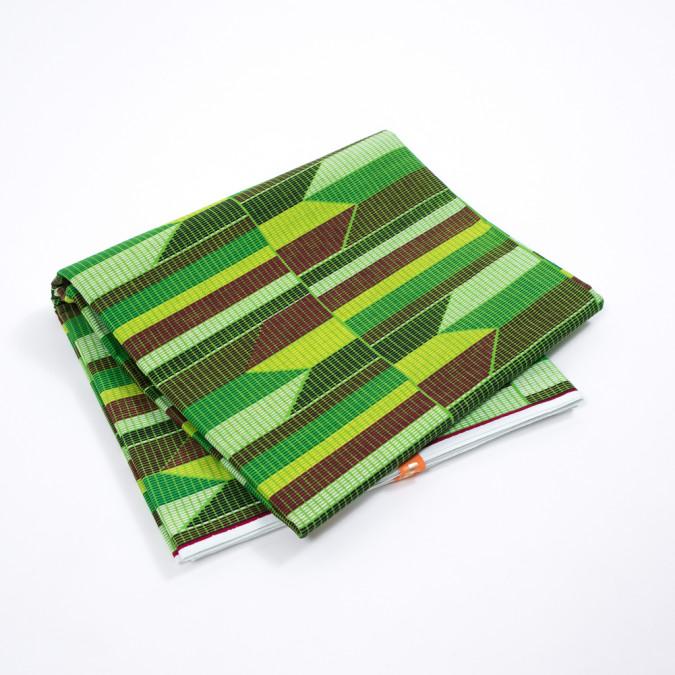 classic green geometric waxed cotton african print 317778 11