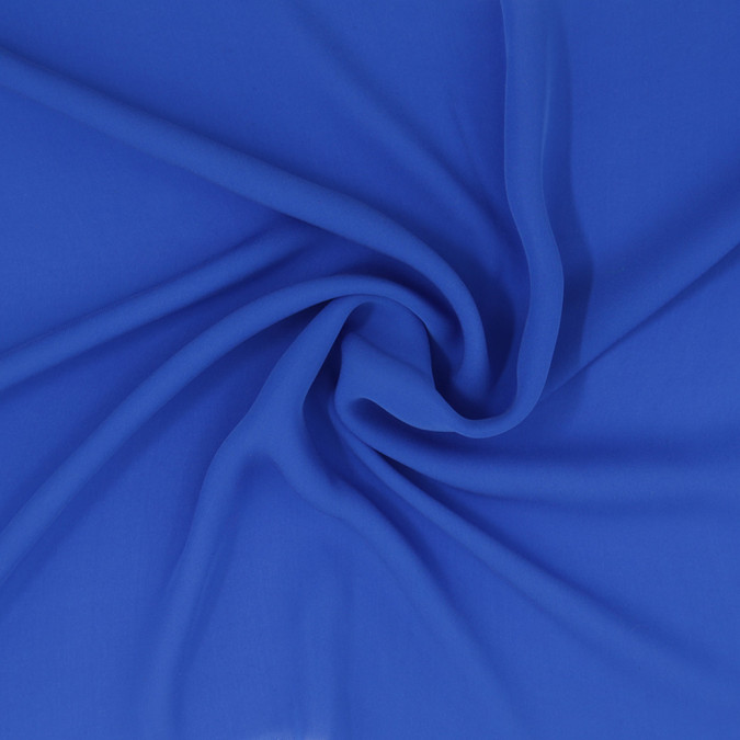 cobalt blue silk georgette 307207 11