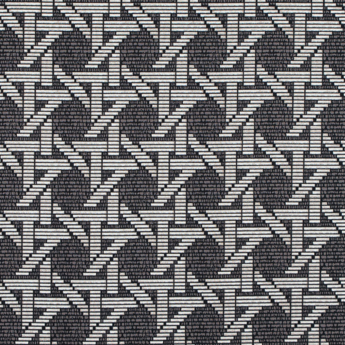 cobblestone taupe geometric printed stretch cotton sateen 314626 11
