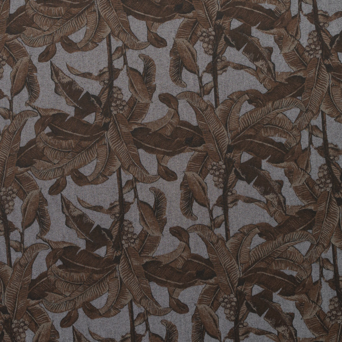 cocoa brown tropically printed denim 310760 11