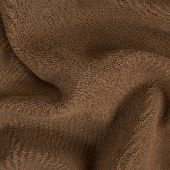 coffee brown creped wool double cloth 309786 11