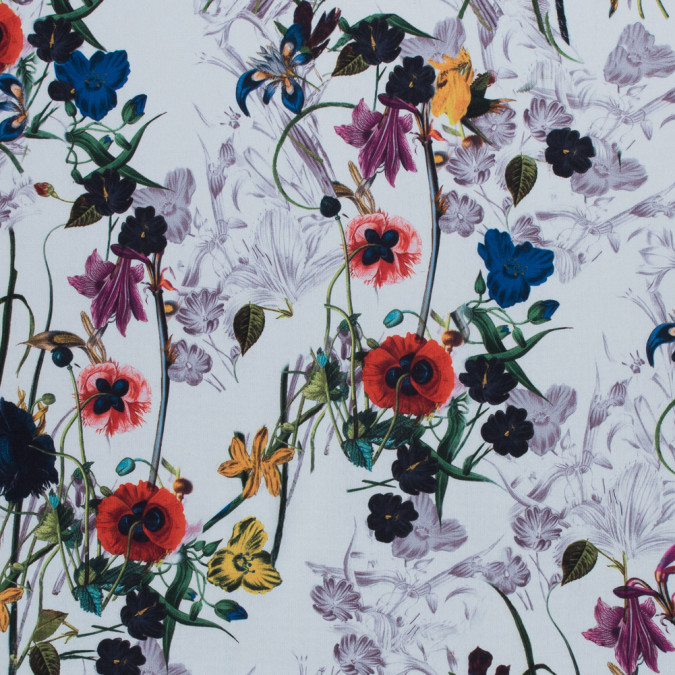 colorful flowers digitally printed on a premium mikado twill 116027 11