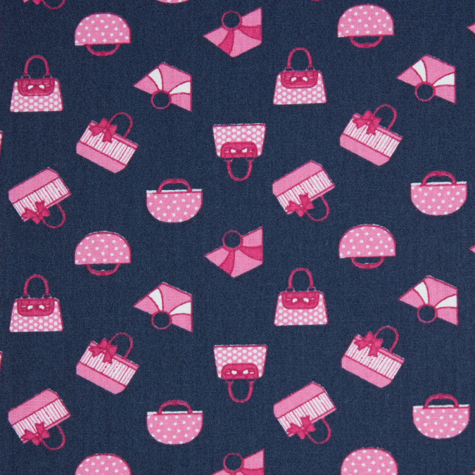 confetti pink navy printed purses on cotton poplin 310736 11