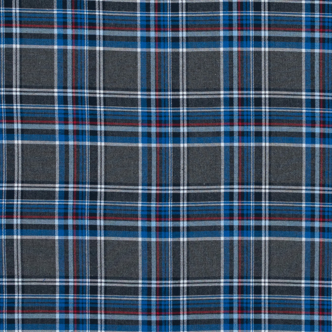 cool gray blue and red plaid cotton flannel 316012 11