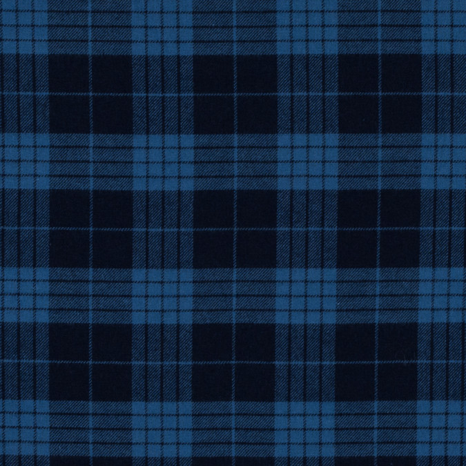 coronet blue and dark navy tartan plaid cotton flannel 313961 11