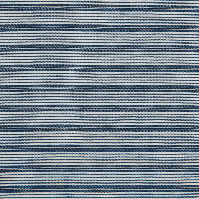 coronet blue white pencil striped stretch cotton woven 310592 11
