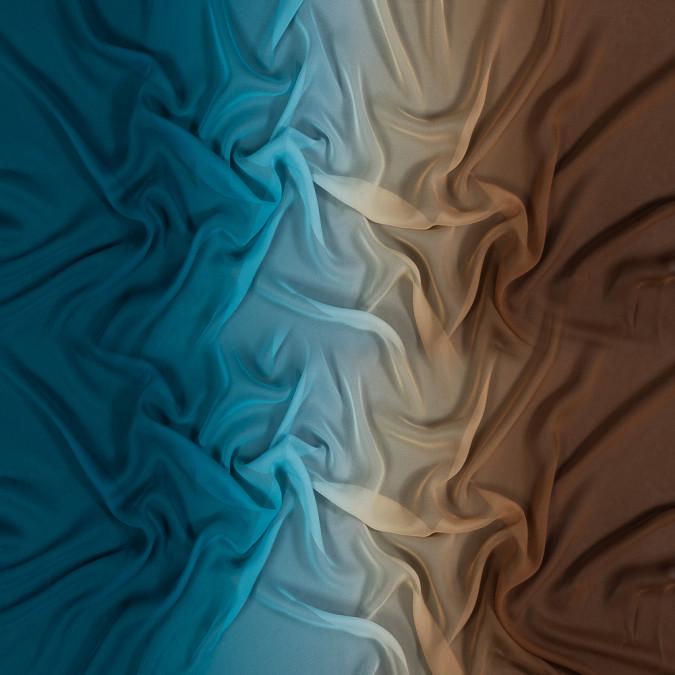 dachshund and deep teal ombre silk chiffon 318589 11