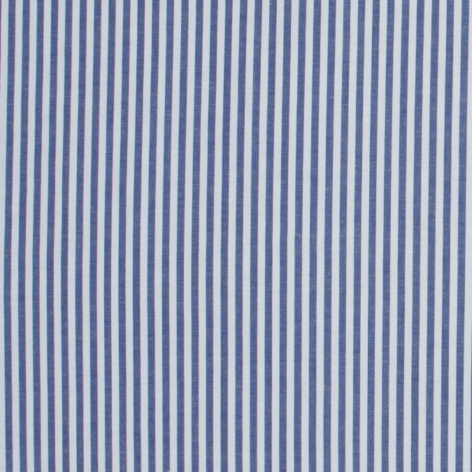 dark blue candy striped stretch cotton poplin 316481 11