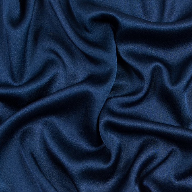 dark blue crepe back satin 317382 11