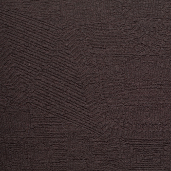 dark brown abstract geometric textured wool blend 305966 11