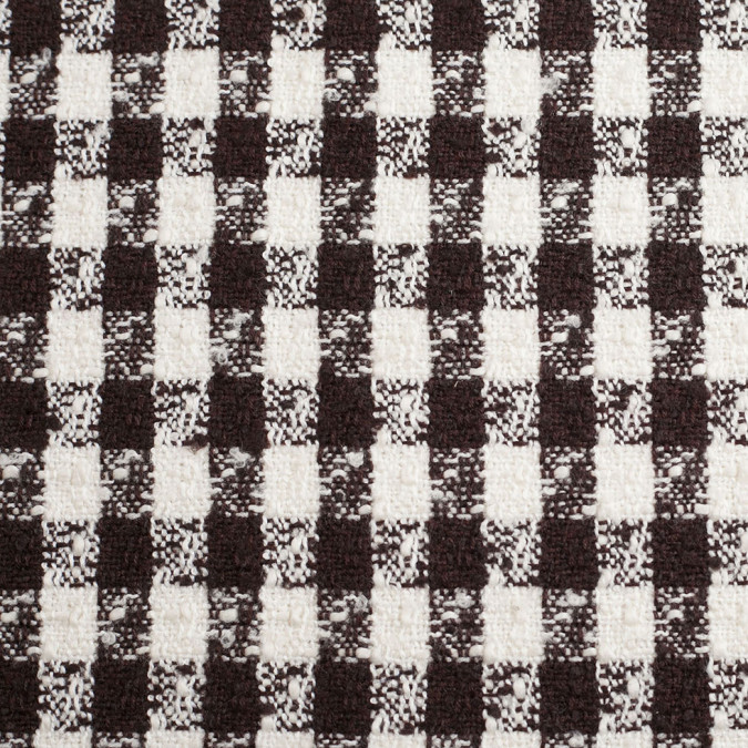 dark brown off white checkered tweed polyester blend 306187 11