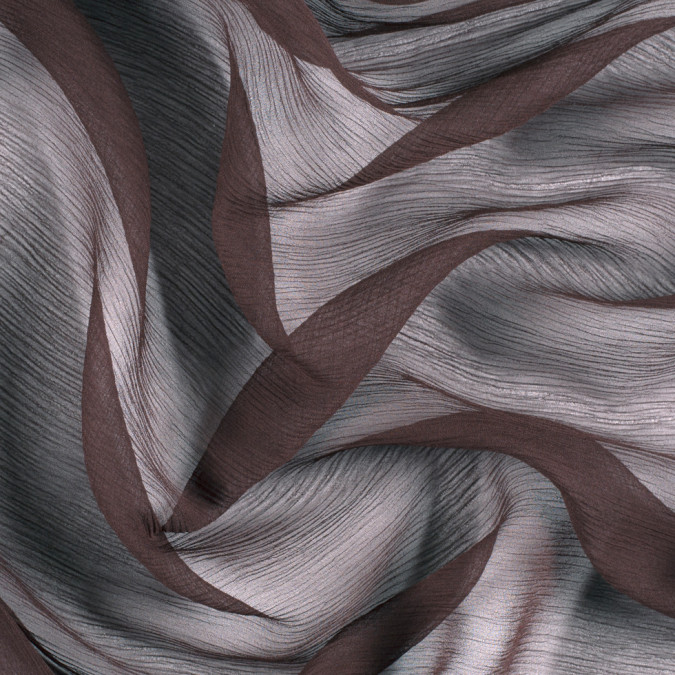 dark brown silk crinkled chiffon pv5100 190 11