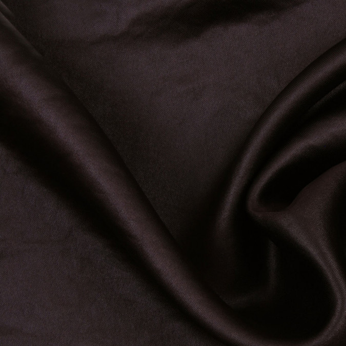 dark brown viscose acetate satin 302708 11