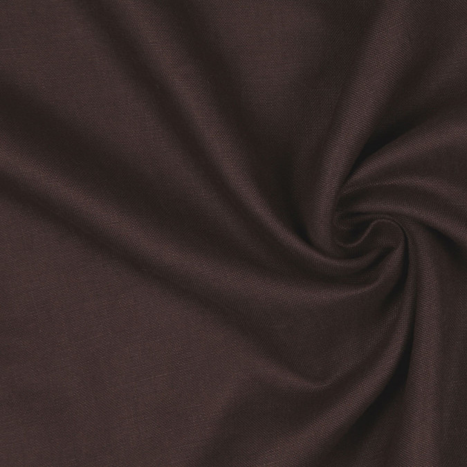 dark brown woven linen suiting 114289 11