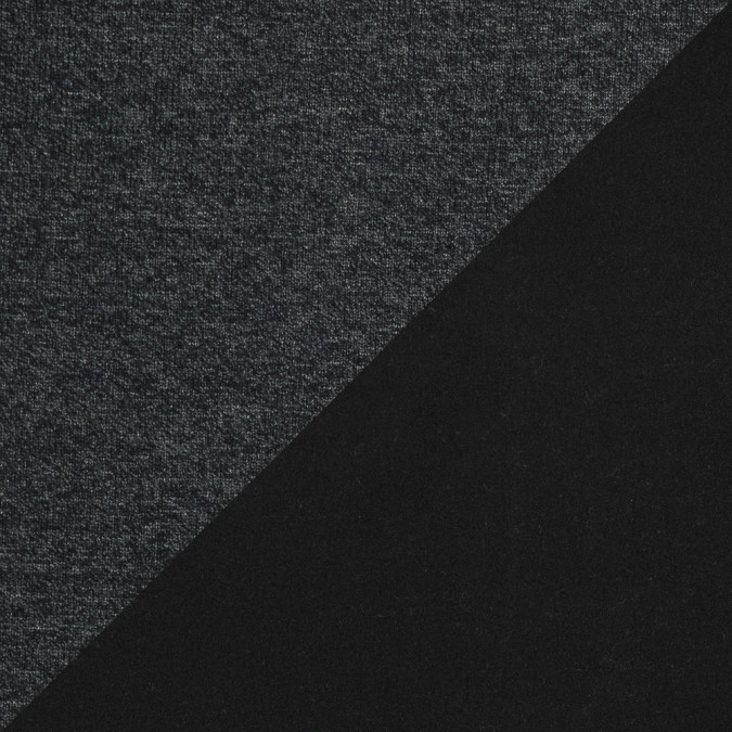 dark charcoal performance wool knit with a black fleece backing 316136 11