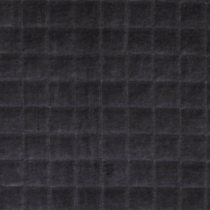 dark dull gray quilted velvet with polyfil lining 313408 11