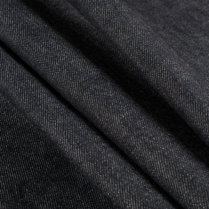 dark navy cotton selvedge denim 14oz 312915 11