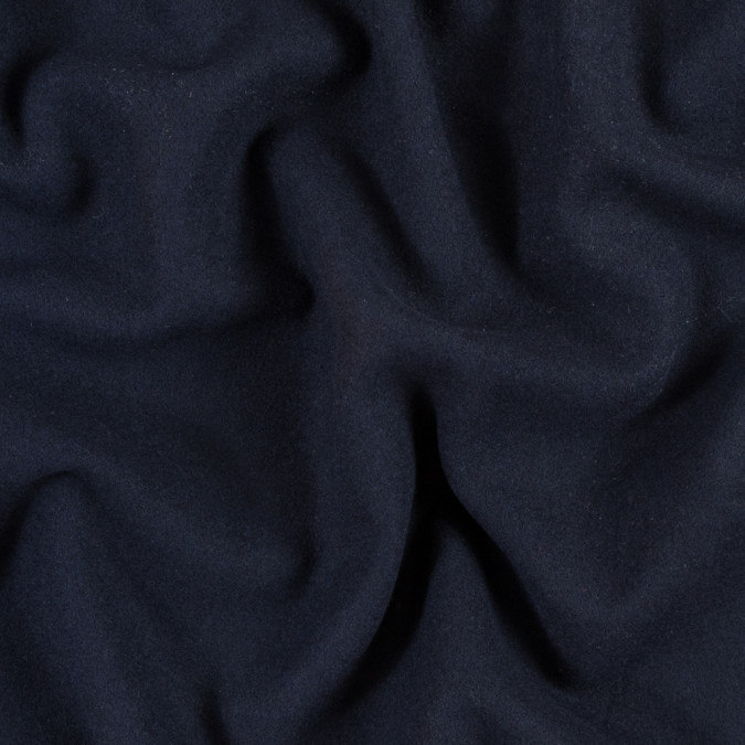 dark navy single sided fleece wool coating 313742 11