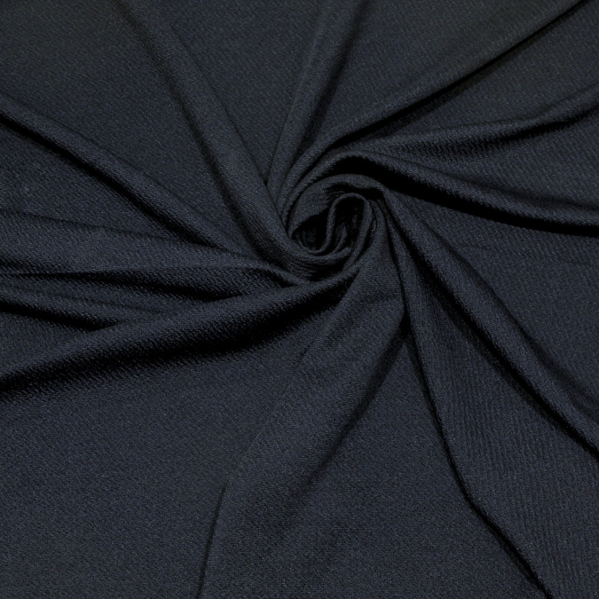 dark navy textural stretch polyester knit 309150 11