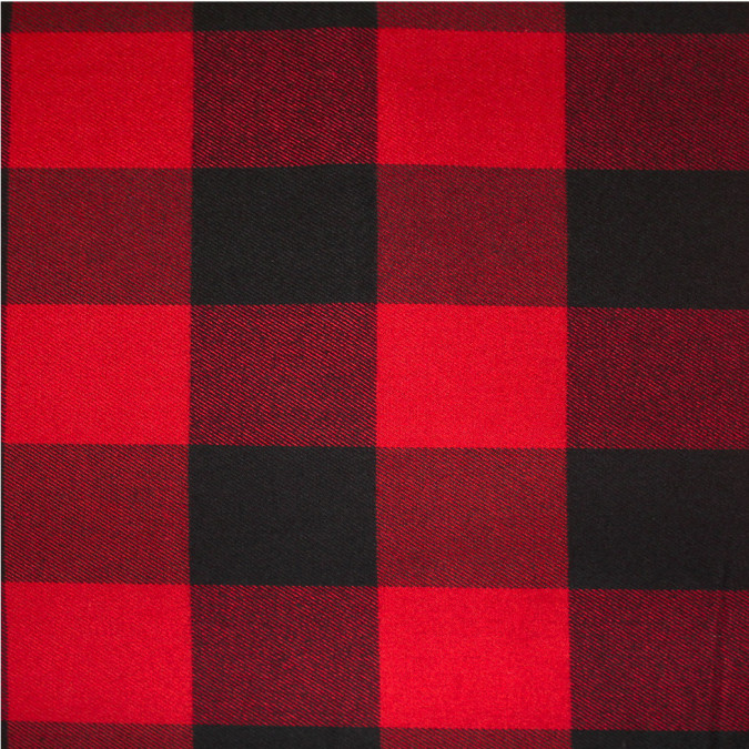 dark red black buffalo check cotton flannel 308611 11